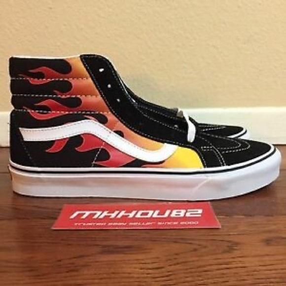 Vans Shoes | Fire High Top | Poshmark